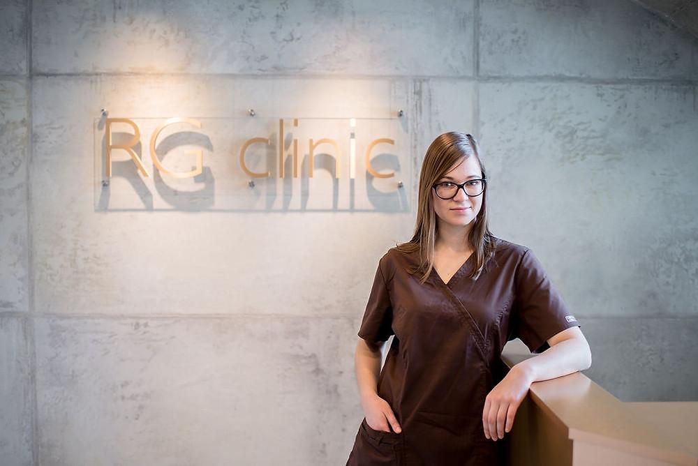 """""""RG clinic"""" bendrosios praktikos gydytoja odontologė Gabrielė Petrauskaitė"""
