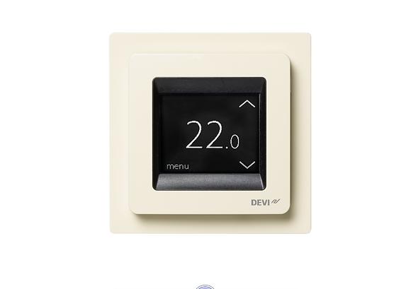 Patalpos termostatas DEVIreg™ Touch dramblio kaulo, +5...+45 °C, grindų+patalpos jutiklis, 16 A