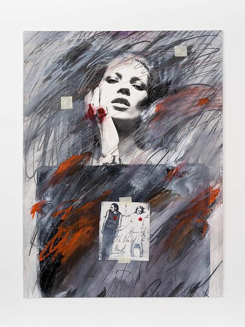 Tomas Sipas, Mergina 2018m.Mišri technika/popierius. 40x30
