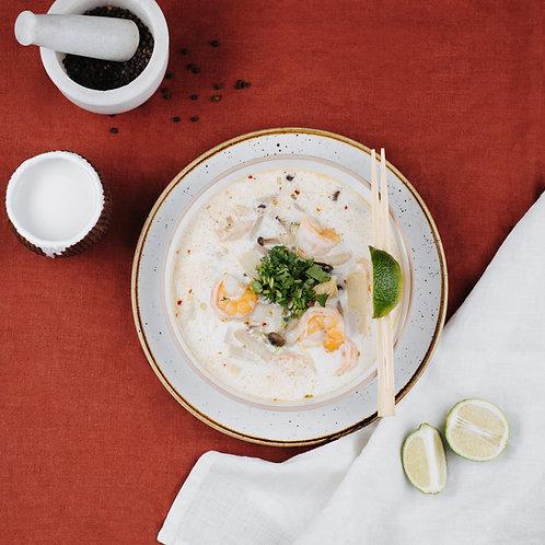 Tailandietiška sriuba Tom Yam Pasaulio puodai ant ratų Vytaro Radzevičiaus receptas