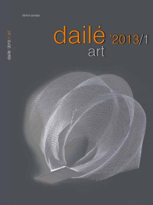 """Žurnalas """"Dailė/Art"""" Nr. 2013/1"""