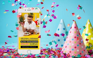 """Nuotoliniai kulinariniai kursai su Alfu Ivanausku """"Kūrybiško recepto formulė"""". Ypatingas pasiūlymas!"""