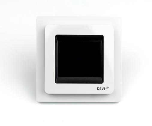 Patalpos termostatas DEVIreg™ Touch poliarinis baltas, +5...+45 °C, grindų+patalpos jutiklis, 16 A