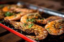 Krevetės ant grilio