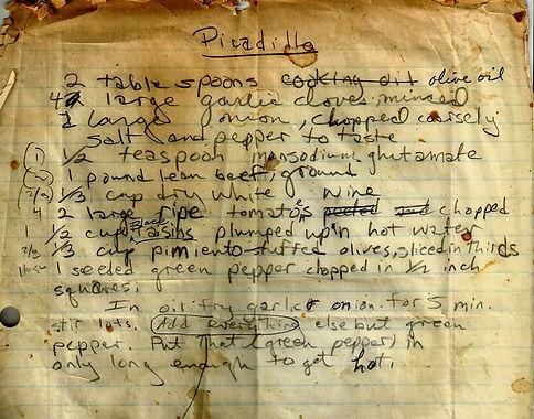 "Ernesto Hemingway troškinys ""picadillo"""