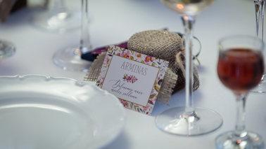 Stalo kortelės. Vestuvinė spauda
