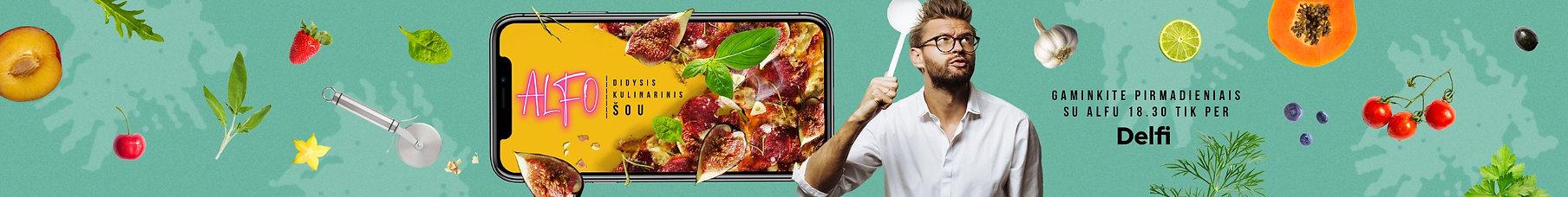 Alfo didysis kulinarinis šou, Alfo receptai