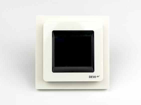 Patalpos termostatas DEVIreg™ Touch baltas, +5...+45 °C, grindų+patalpos jutiklis, 16 A