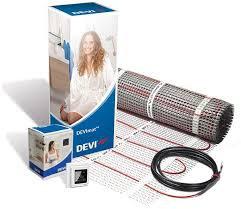 Elektrinio šildymo kilimėlis DEVIcomfort™ 150T (DTIR), 900 W, 6 m² (0,5x12 m) + išmanusis termostatas DEVIreg Touch