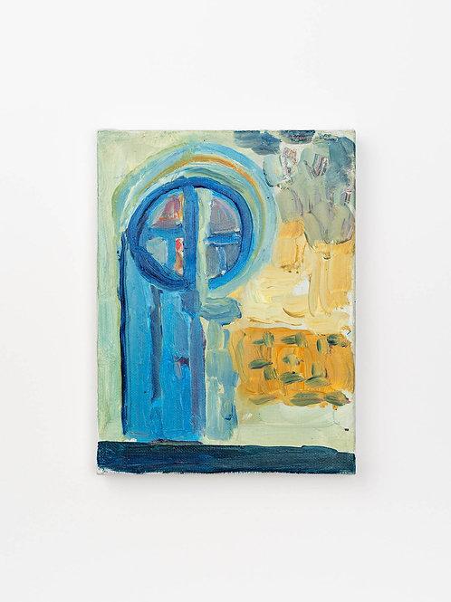 Aistė Bugailiškytė Itališkos durys.2020. Drobė, aliejus, 24x18 cm