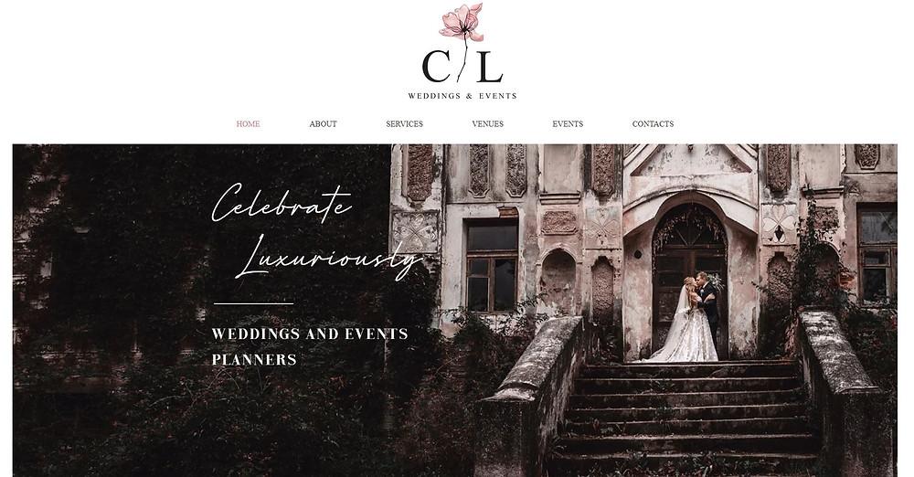 CL Weddings & Events, svetainių kūrimas, internetinės svetainės, Gilės projektai