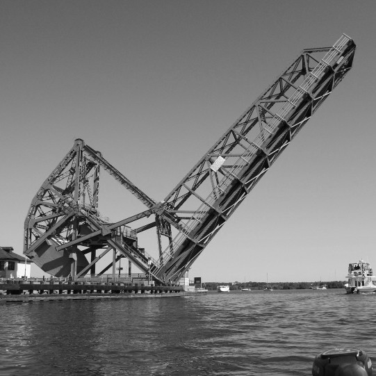 THE LASALLE CAUSEWAY LIFT BRIDGE