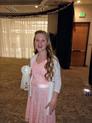 Chloe at the Awards Ceremony