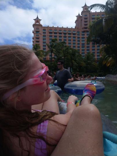 Chloe at the water park.
