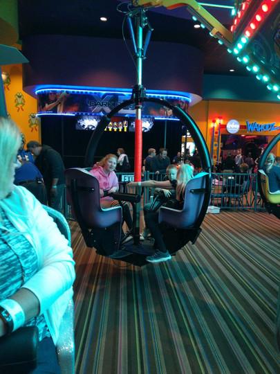 Chloe on a fun ride.