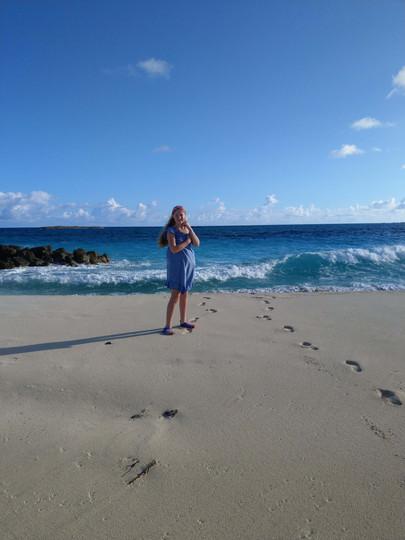 Chloe on the beach.