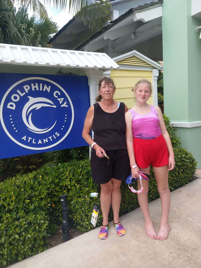 Dolphin Cay Atlantis - getting ready to swim with dolphins.