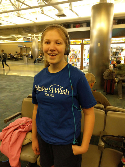 Chloe at the Airport.