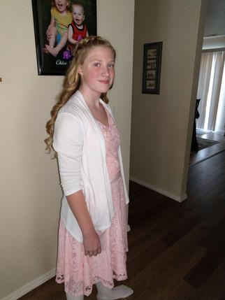 Chloe getting ready