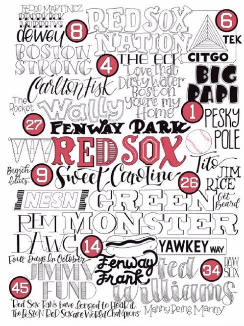 Red Sox Art Print