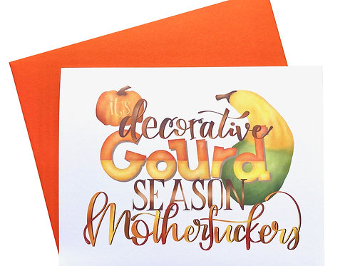 Decorative Gourd Season Card