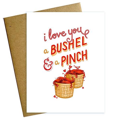 Bushel & Pinch Love Card