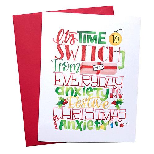 Anxiety Christmas Card