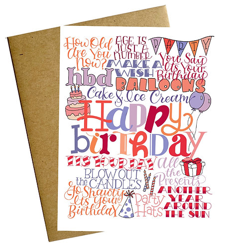 Happy Bday Type Card