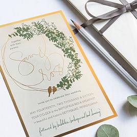 Sam + Ross Wedding Invitation