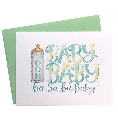 Ooh Baby Baby Card