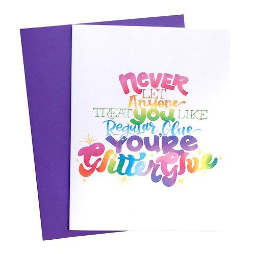 Glitter Glue Card