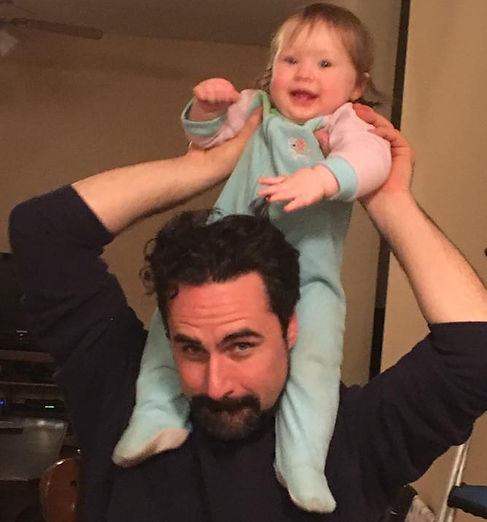 David Joy pictured with daughter.