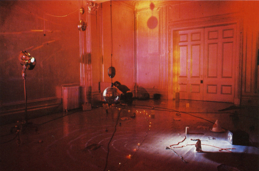 Marc Camille Chaimowicz, Installation view, Inaugural Show: 3 Life Situations, Gallery House, London,1972