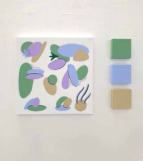 Week 5 Exhibition Painting, 100x100cm, 3