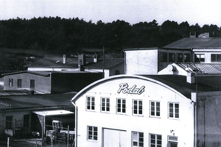 l'usine PODAB en 1950
