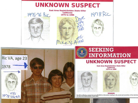 Golden State Killer/East Area Rapist's younger sister writes tell-all best selling book.