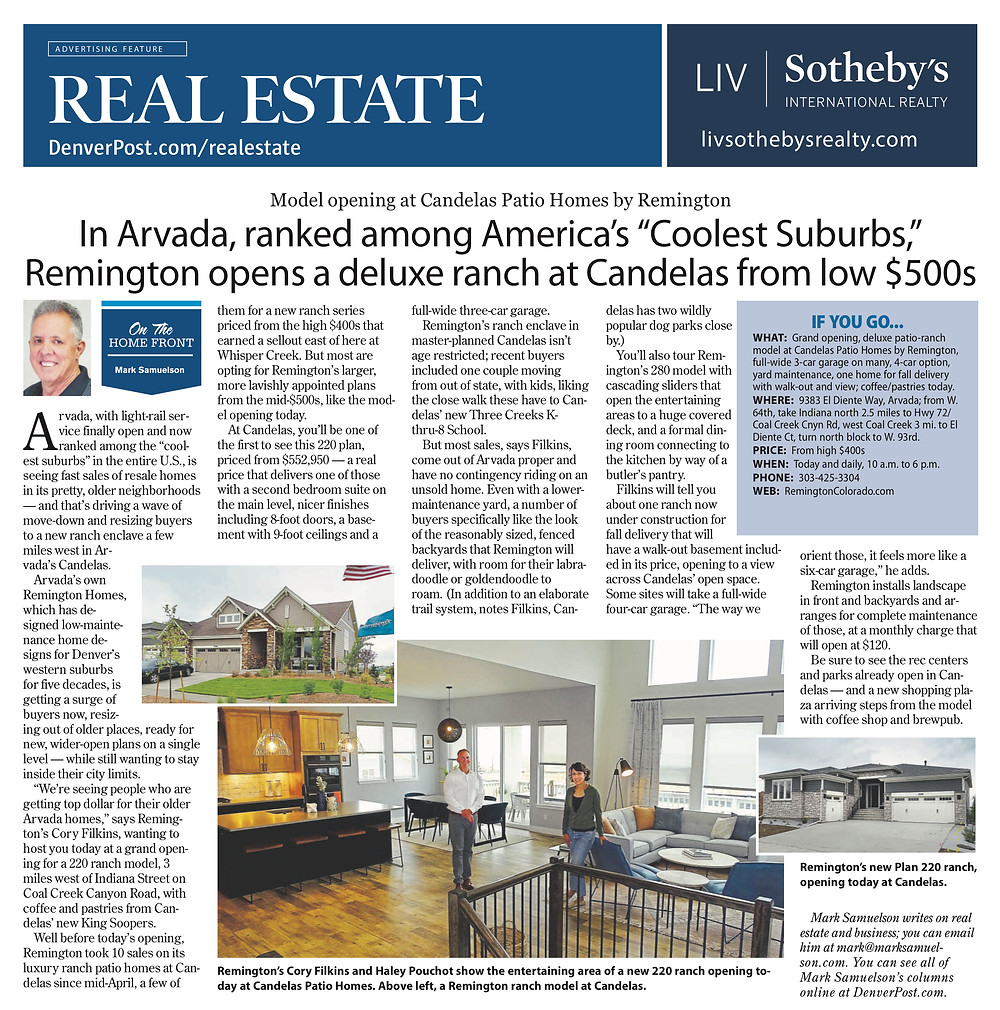 About Remington Homes at Candelas