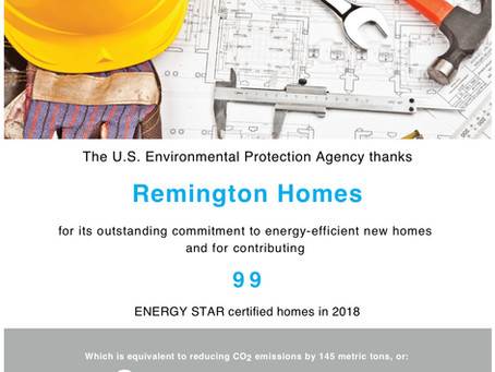 99 Energy Star® Certified Homes in 2018!