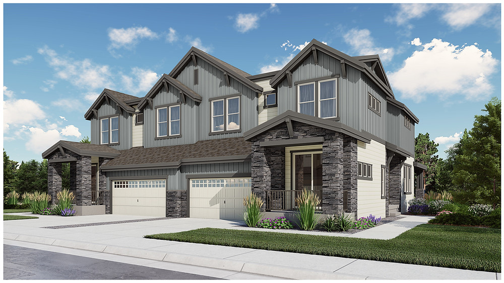 Large paired homes by Remington Homes