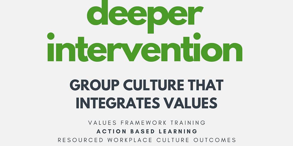 Deeper Intervention (Culture Edition) 4 x half days