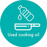 pouring used cooking oil