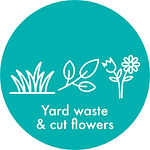 Yard waste and cut flowers
