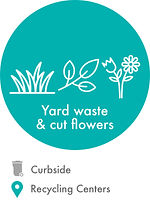 yard waste, small branches and cut flowers