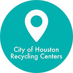 location pin indicating City of Houston Recycling centers