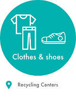 Recycling locations old clothes and shoe