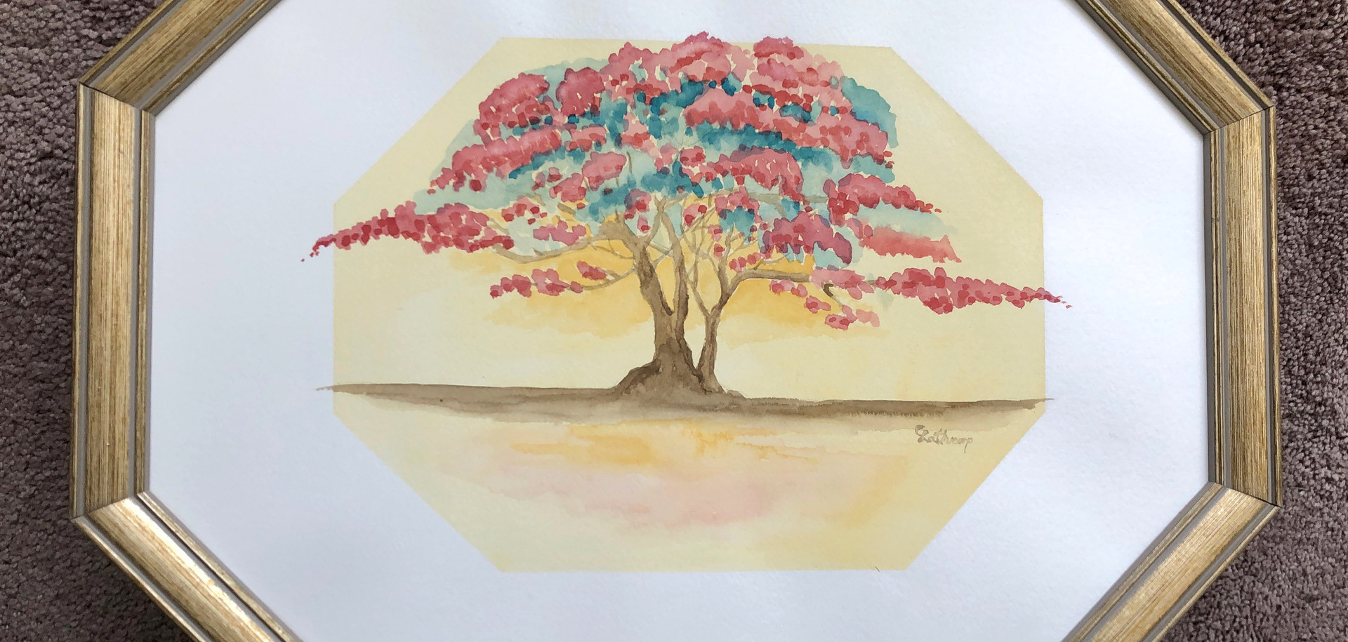 852 - 1 Framed tree pntg.jpg