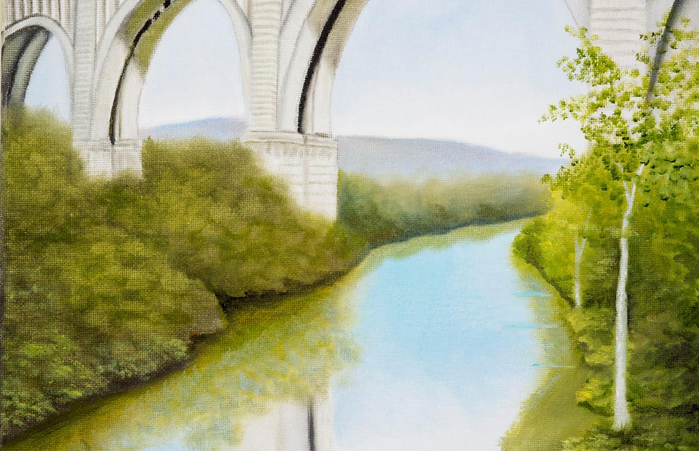 Nicholson Bridge with Reflection Van Zan