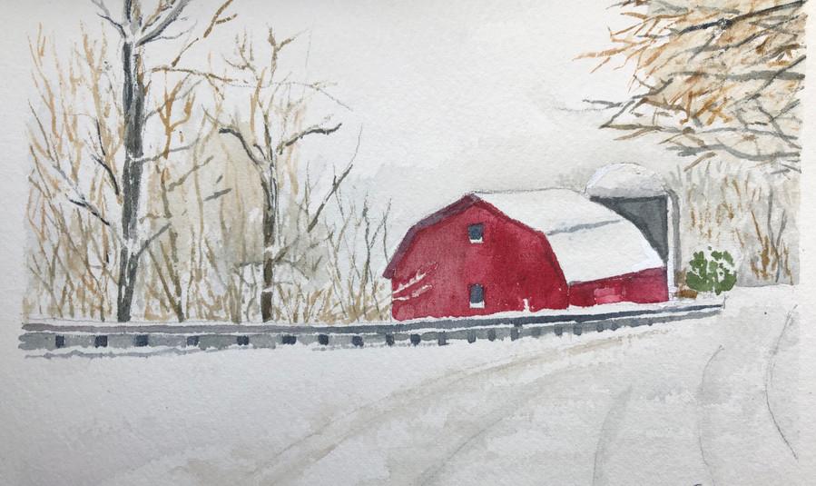 853 - Snowy Red Barn .jpeg