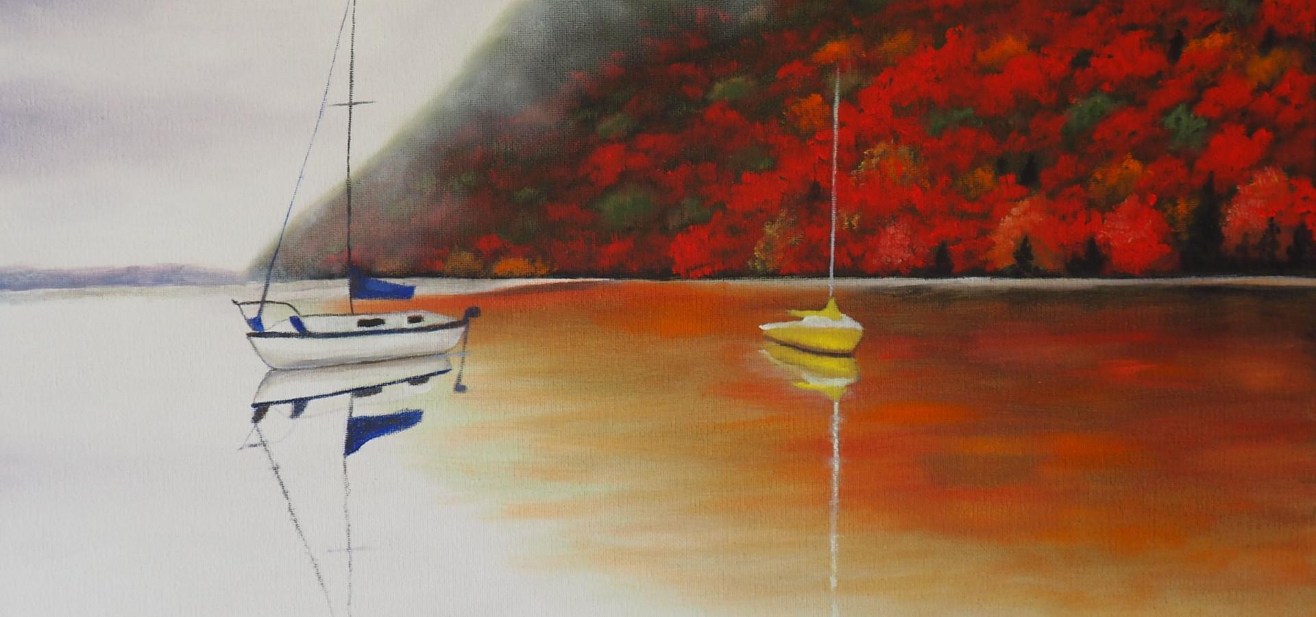 Sailboats in the Fall.JPG