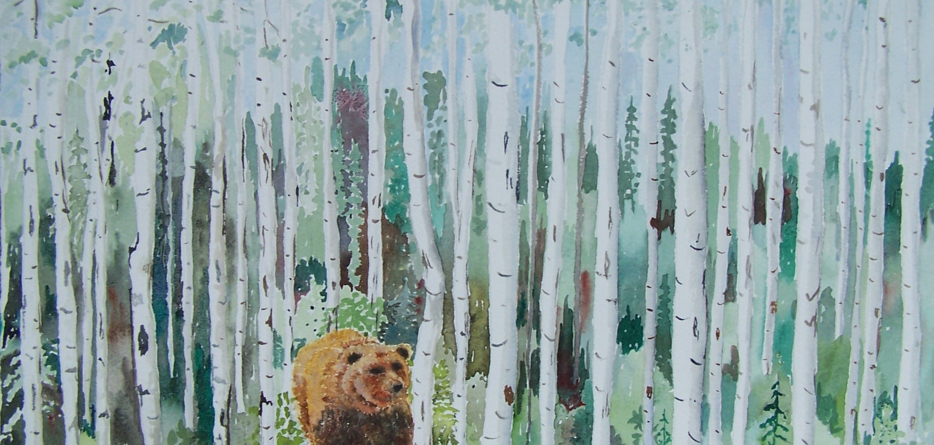 532-Grizzly in woods pntg.jpg